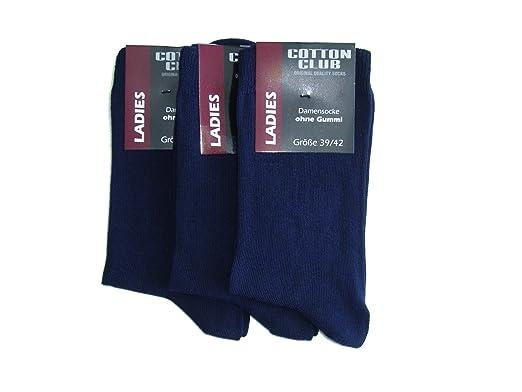 117eb3691ebd76 Cotton Club 3 Paar Damensocken ohne gummi Gr. 35-38, 39-42: Amazon ...