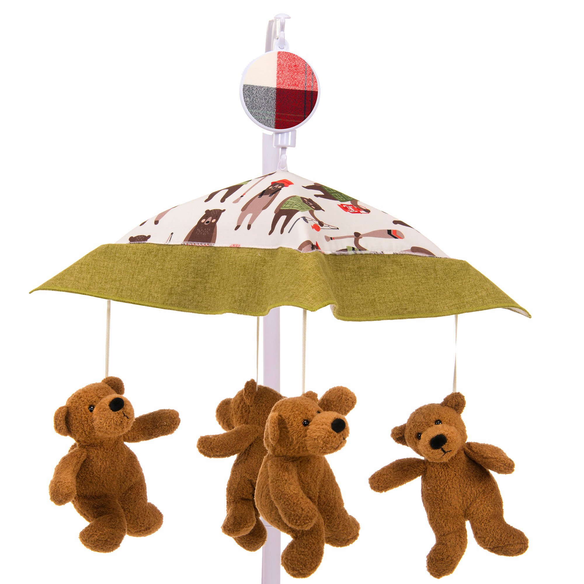 Camp River Rock Brown Bear Musical Mobile by Glenna Jean