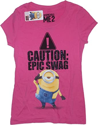 Despicable Me 2 Push Me Minions Juniors Raglan Shirt