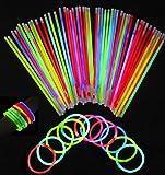 100 braccialetti luminosi fluorescenti bracciali bracciale