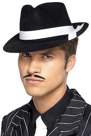 cbb7049e5c2ca Smiffys Al Capone Hat with Band Flocked Plastic - Black  Smiffys ...