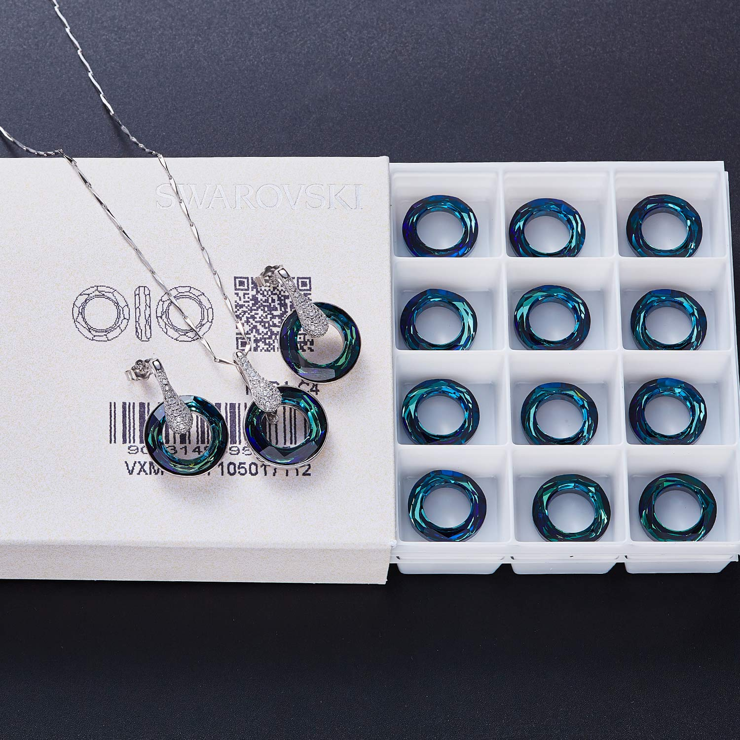 LOUISA SECRET Jewelry Set, 925 Sterling Silver Pendant Necklace And Dangle Earrings Set Fashion Valentine\'s Day Gift For Women And Girls