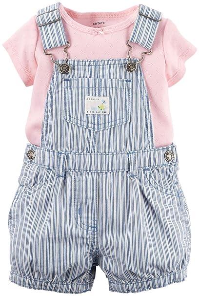 2d03d630a4e68 Land sous-vêtement pour bébé Fille 2 pièces T-Shirt   Denim Shortall ...