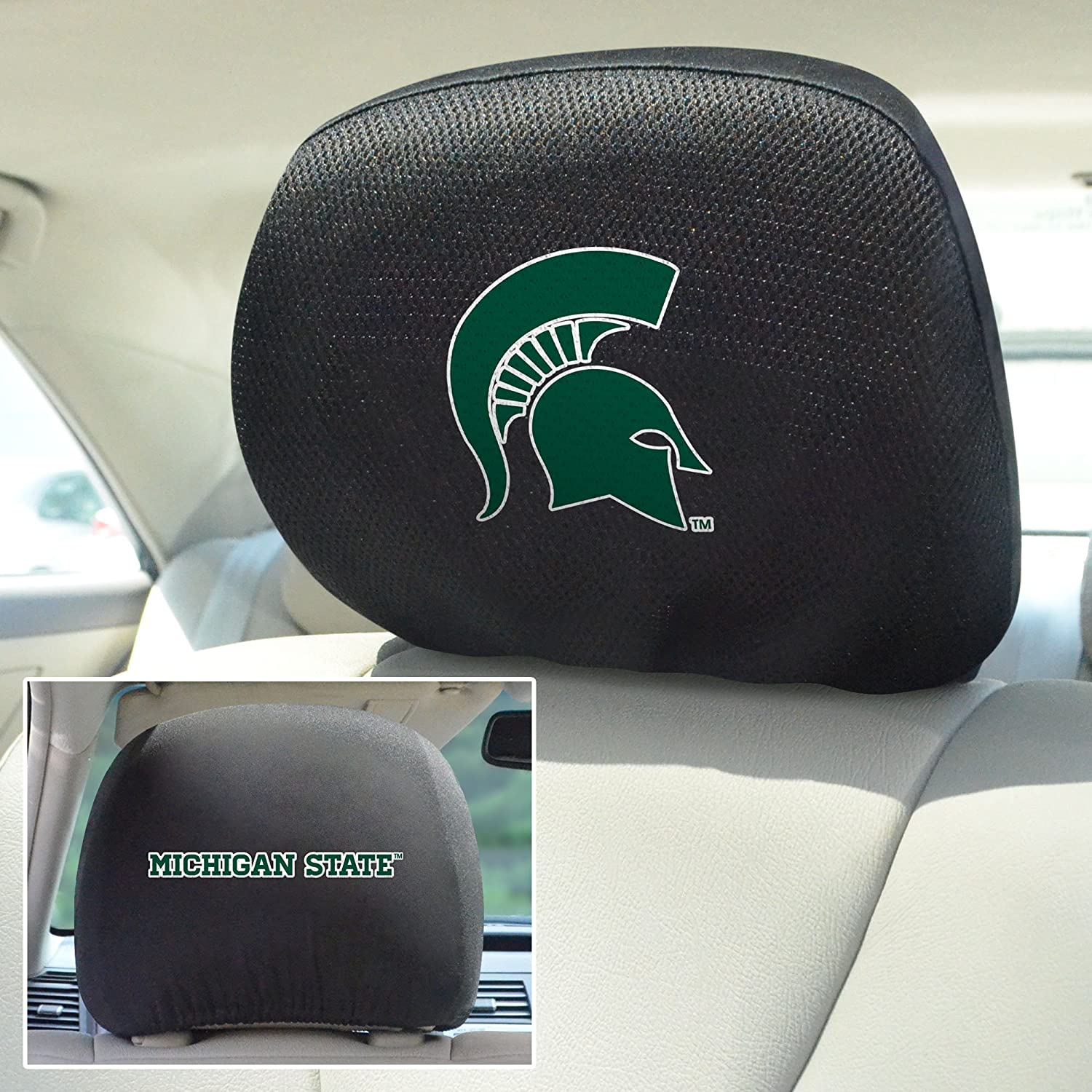 FANMATS NCAA Michigan State University Spartans Polyester Head Rest Cover