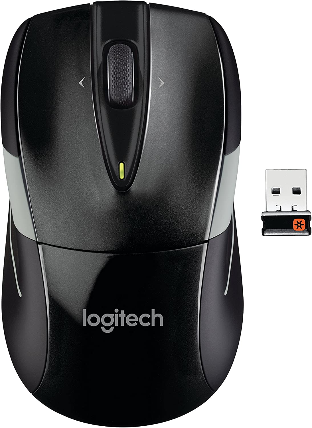 Logitech M525 Wireless Mouse – Long 3 Year Battery Life, Ergonomic Shape for Right or Left Hand Use, Micro-Precision Scroll Wheel, and USB Unifying Receiver for Computers and Laptops, Black/Gray: Electronics