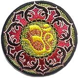 Ecusson - Lotus Om symbole spirituellement Hindu Meditation - coloré - Ø8,4cm - patches brode appliques embroidery thermocollant