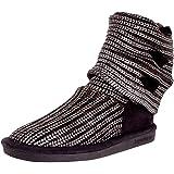 Bearpaw knitallic Women Round Toe Synthetic Gray Winter Boot