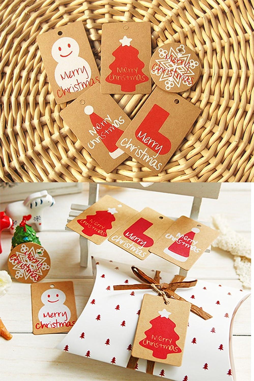 Reinigungsservice 100 Papier Weihnachtsgeschenk Tags Etiketten 5 ...