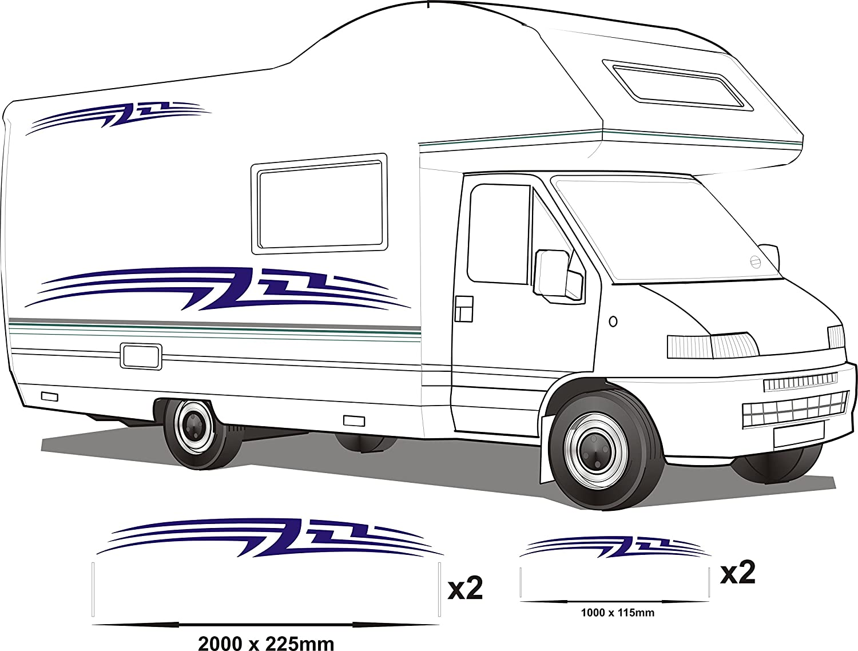 Smarts-Art-Sticker de protection pour camping-car-Lot de 4
