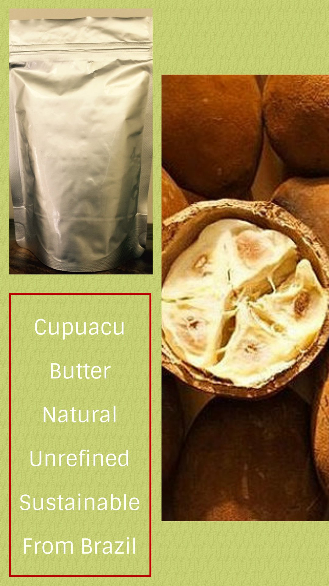 Cupuaçu Butter - 32 Oz (2 lb) - WHOLESALE PRICE & - Raw & Unrefined - Sustainable Product