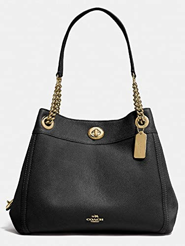68e09642bc COACH Women s Turnlock Edie Li Black One Size  Handbags  Amazon.com