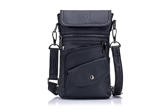 66c9410e5d Men`s Sling Bag Genuine Leather Chest Shoulder Backpack Anti-theft Cross  Body Pack