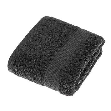 Homescapes Toalla de Manos, 100% algodón Turco Absorbente y Suave, Color Negro 50 x 90 cm: Amazon.es: Hogar