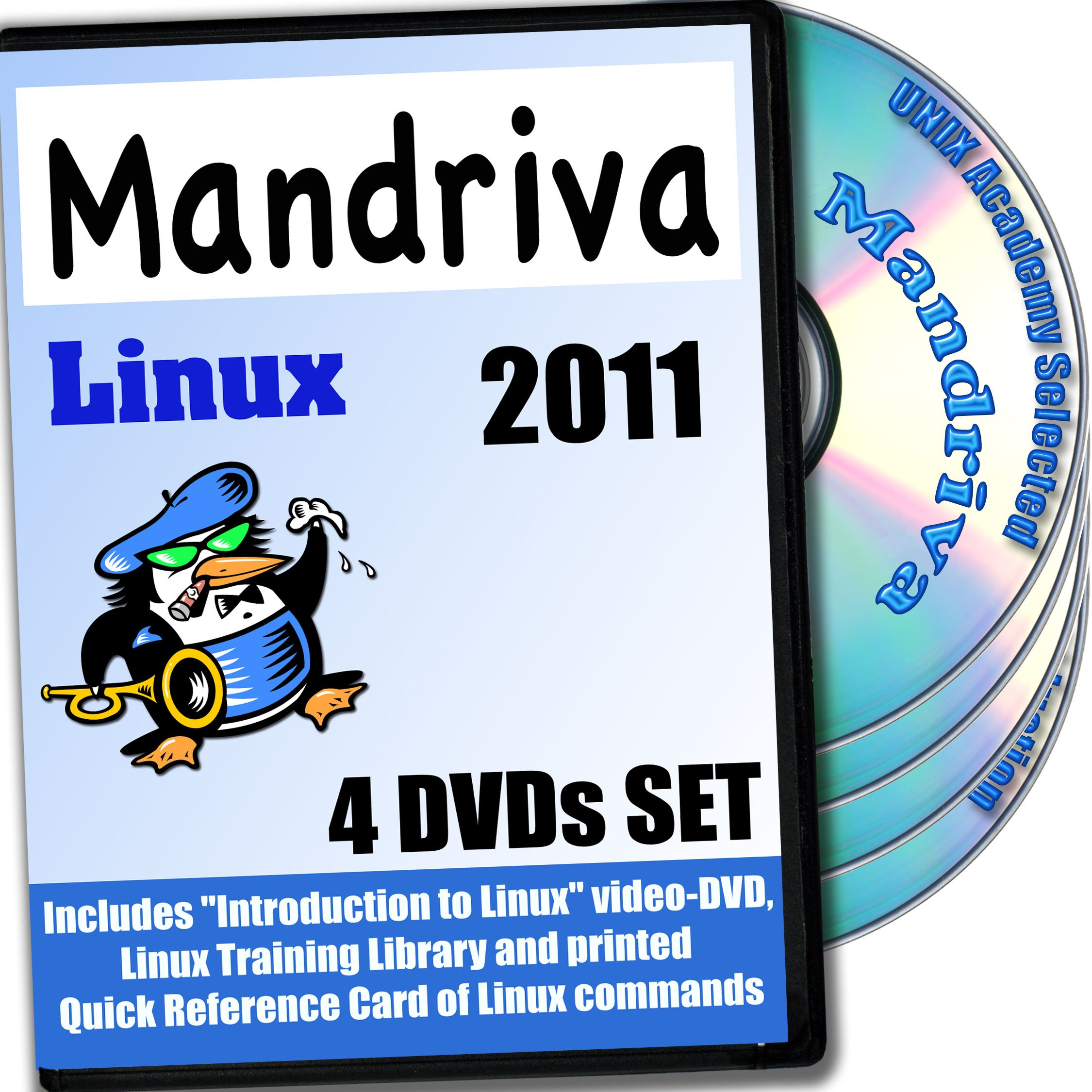 Mandriva 2011 Linux, 4-discs DVD Installation and Reference Set Ed.2013 by SetLinux by PRIZIX