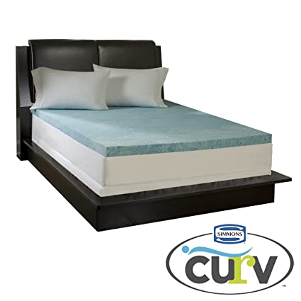 amazon foam mattress topper Amazon.com: Simmons Curv 3 inch Flat Gel Memory Foam Mattress  amazon foam mattress topper