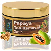 The EnQ Papaya Tan Removal Scrub || De- Tan Scrub || Skin Whitening,Reduces Unwanted Hair, Exfoliates Dead Skin Cells, Repairs Aged Skin, Gives Natural Glow, Keeps Skin Soft || 50gm
