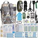 Monoki First Aid Survival Kit, 302Pcs Tactical Molle EMT IFAK Pouch Outdoor Gear EDC Emergency Survival Kits First Aid…