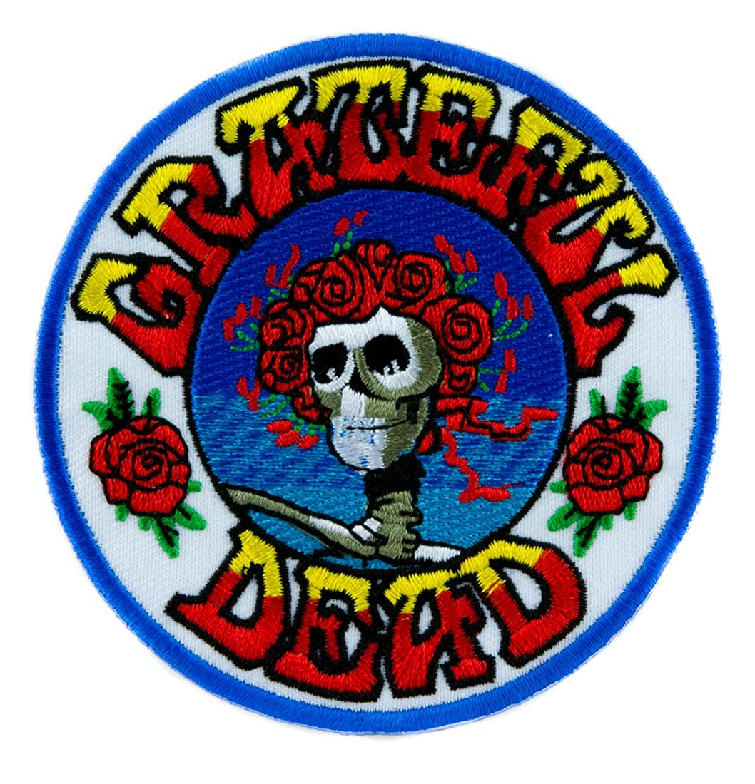 Grateful Dead Band Skull Rose Patch Iron on Alternative Clothing Psychedelic Rock