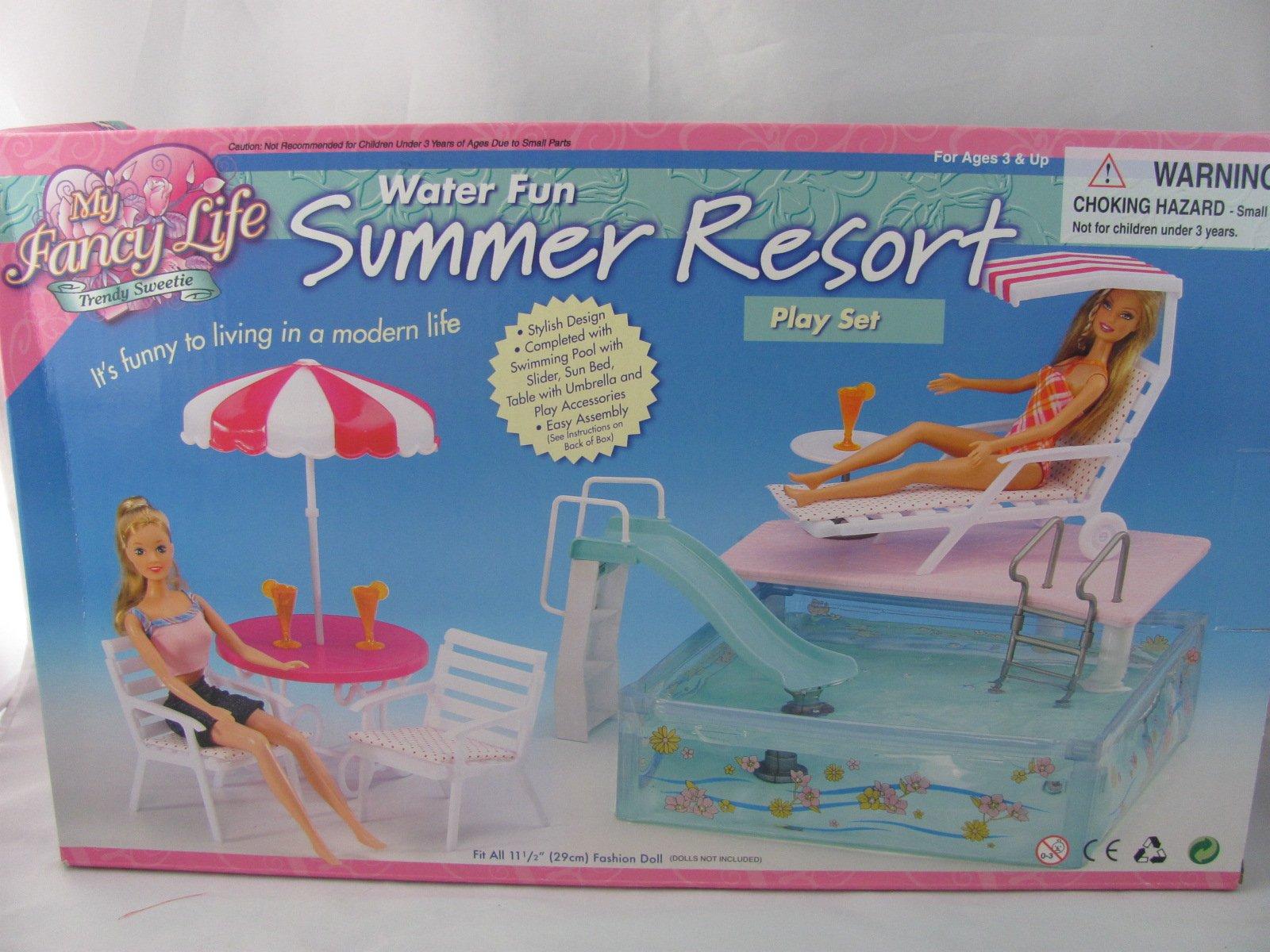 Barbie Size Dollhouse Furniture - Summer Resort Water Fun