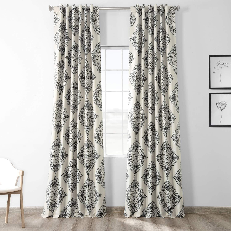HPD Half Price Drapes BOCH-KC27B-84 Blackout Room Darkening Curtain (1 Panel), 50 X 84, Henna Black