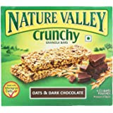 Nature Valley Crunchy Granola Bars, Oat and Dark Chocolate, 42g (Pack of 6)