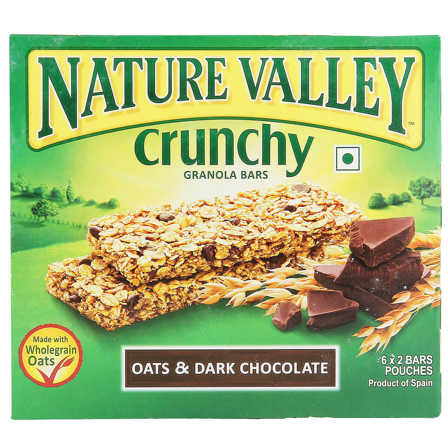 Dark Chocolate Crunch Food Label
