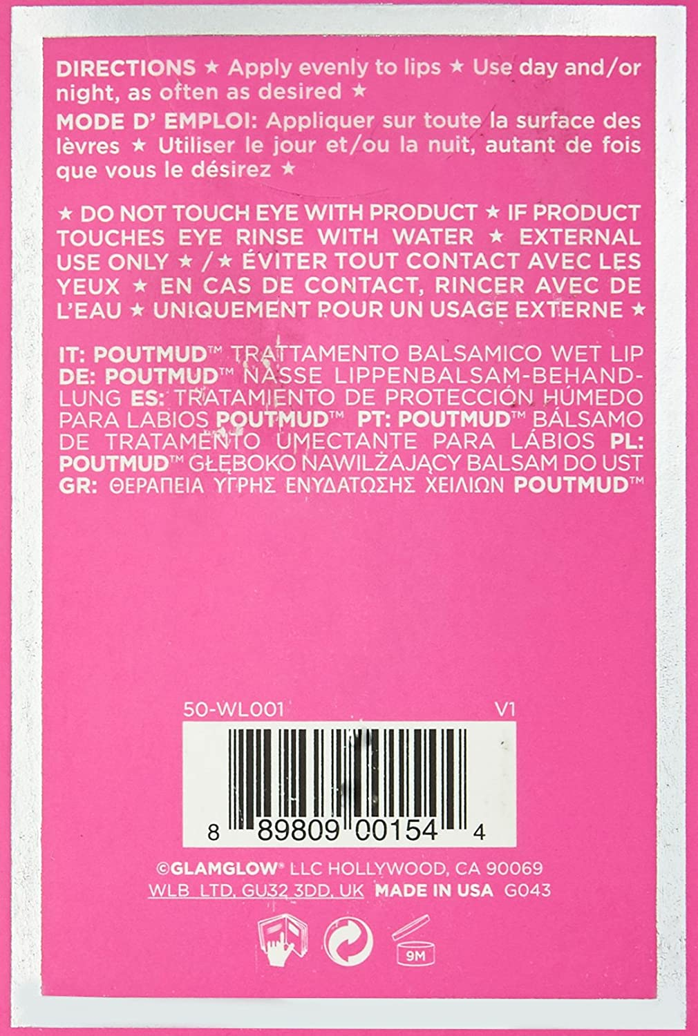 Glamglow Facial Treatment Cream Pout Mud Wet Lip 085 Supermud 50 Gr Ounce Beauty