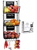 Stylish Kitchen Hanging Fruit And Vegetable Storage Baskets with Chalkboards - Perfect for Your Potatoes and Onions…