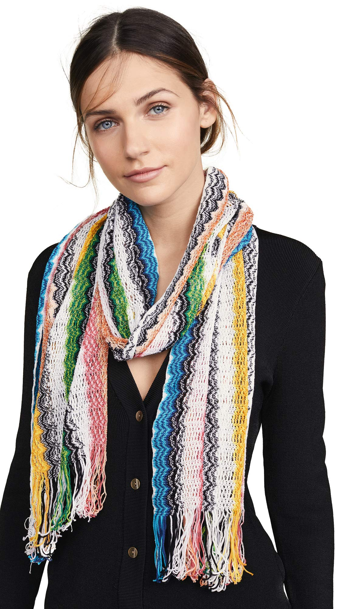 Missoni Women's Scarf, Flamingo, Stripe, One Size