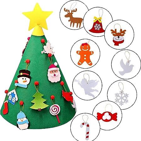 Albero Di Natale Happy Casa.Happy Event Albero Di Natale In Feltro Per Bambini In 3d Amazon It Casa E Cucina