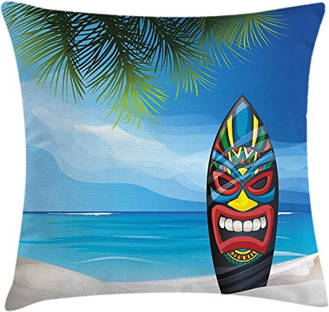 Tiki Bar Decor Throw Pillow Cushion