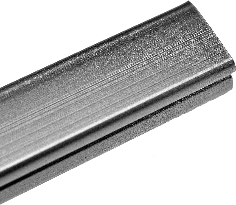 YuYang Mini Kabelkanal 120 mm selbstklebend 10x5 mm 12 cm Länge Kunststoff grau