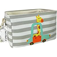 FANKANG Rectangular Fabric Storage Bin Toy Box Baby Laundry Basket with Flamingo Prints for Kids Toys and Nursery Storage, Baby Hamper, Book Bag, Animals Storage Toy Boxes, Gift Baskets(Giraffe)
