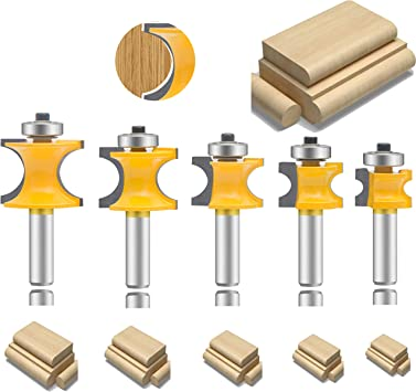 """1//4/""""-1//2/"""" Trimming Carbide Router Bits Milling Cutter for Woodworking 1//4/"""" Shank"""