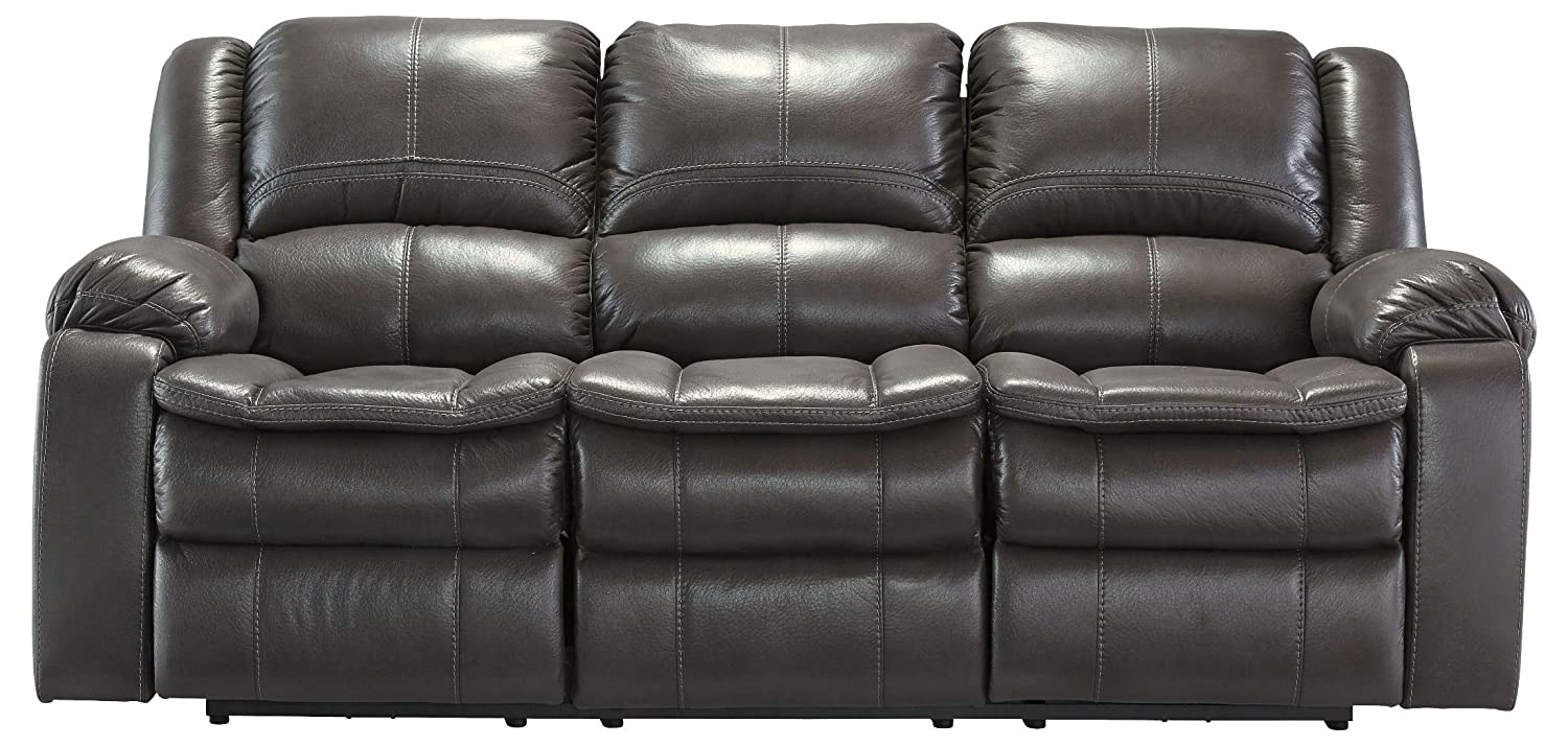 Amazon.com Ashley Furniture Signature Design - Long Knight Recliner Sofa - Power Reclining Motion - Gray Kitchen u0026 Dining & Amazon.com: Ashley Furniture Signature Design - Long Knight ... islam-shia.org