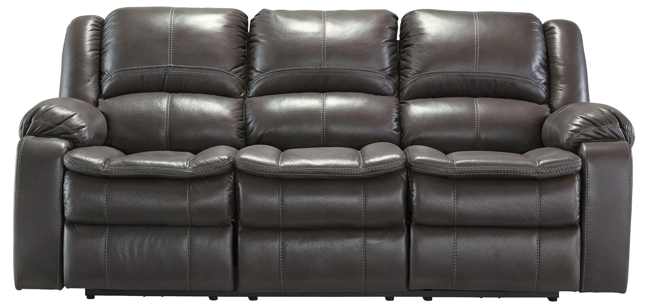 Ashley Furniture Signature Design - Long Knight Recliner Sofa - Manual Reclining - Gray