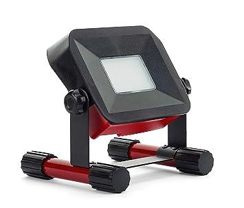 IP65 Rot//Schwarz 750 lm wiederaufladbar 10 W Luceco LSWR7BR Projektor