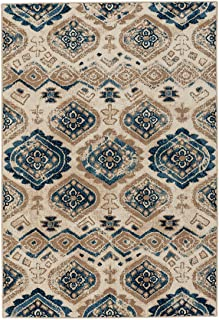 "product image for Capel Bethel-Diamond Taupe Blue 7' 8"" x 10' 10"" Rectangle Machine Woven Rug"