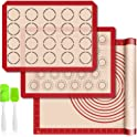 3-Pieces TFS FANSSilicone Baking Mats with Measurement