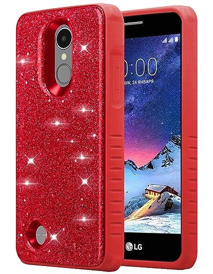 LG Aristo 3/LG Tribute Empire/LG Tribute Dynasty/LG Aristo 2/Rebel 3  LTE/Zone 4/Risio 3/Fortune 2/Rebel 2/K8+ Plus Phone Case for Girls Women,  Glitter