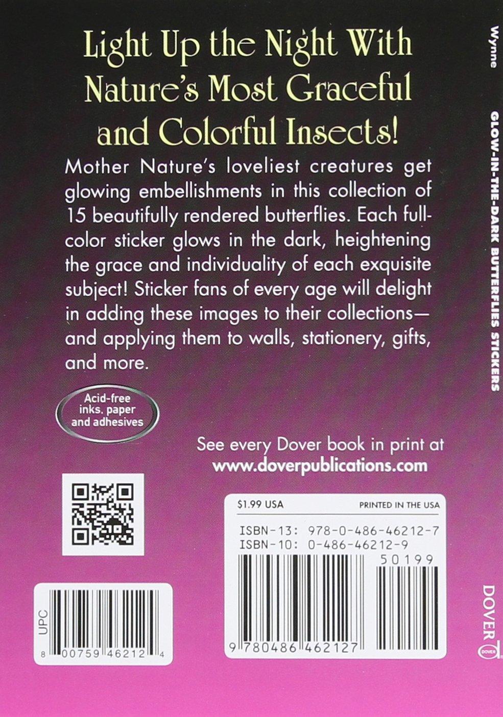 Glow-in-the-Dark Butterflies Stickers (Dover Little Activity Books Stickers)