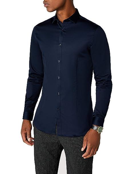 JACK & JONES PREMIUM Jjprparma Shirt L/s Noos, Camisa para Hombre, Blau