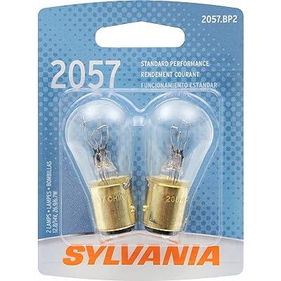 SYLVANIA 2057 Basic Miniature Bulb, (Contains 2 Bulbs): Automotive