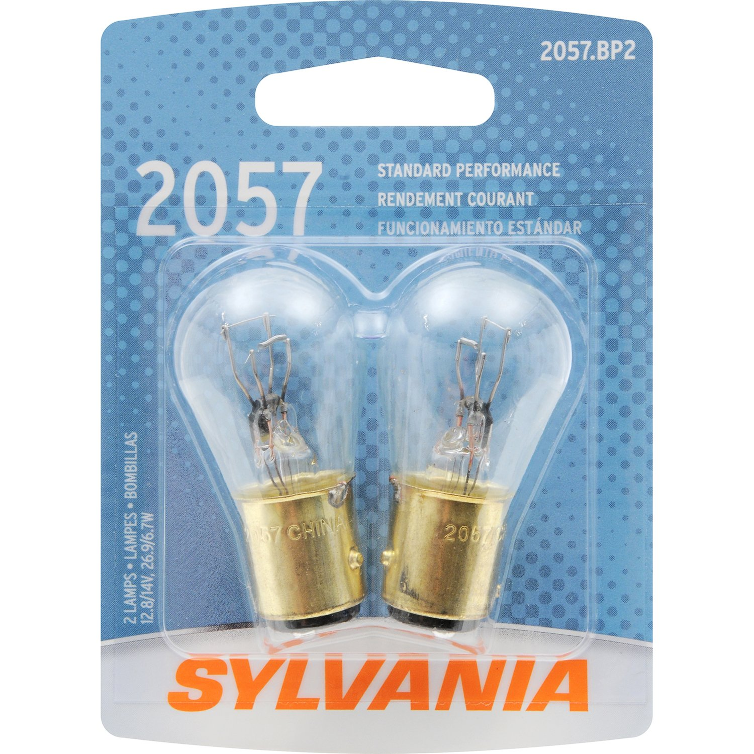 Amazon.com: SYLVANIA 2057 Basic Miniature Bulb, (Contains 2 Bulbs):  Automotive