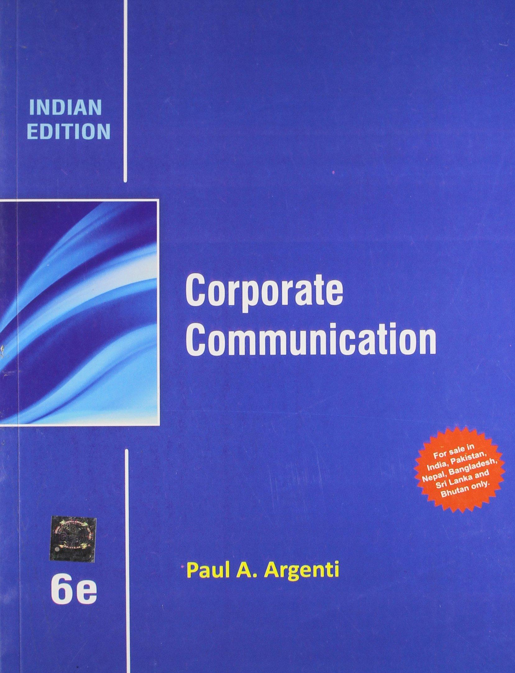 Corporate communication 6th edition paul a. Argenti | ebay.