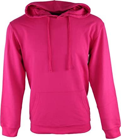 Boli & Berg Sweat Shirt à Capuche Homme Rose Large
