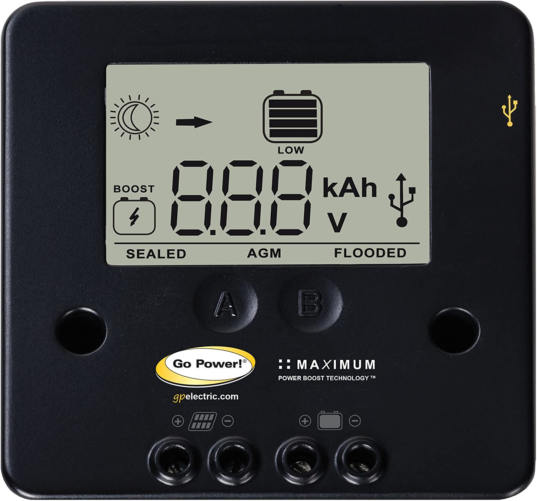 Go Power GP-ECO-20 20W 1.2A Solar KIT W Cont