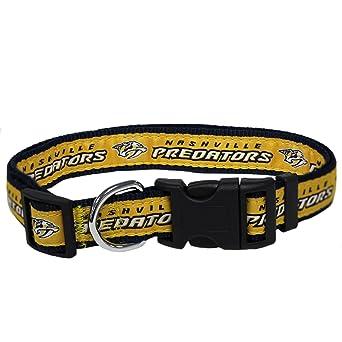 e1abcc42ac0 Amazon.com   Pets First NHL Nashville Predators Collar for Dogs   Cats