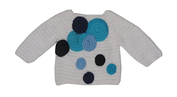 Sr Handicrafts Boys Wool Sweater Sh018 2 3 Years White Black