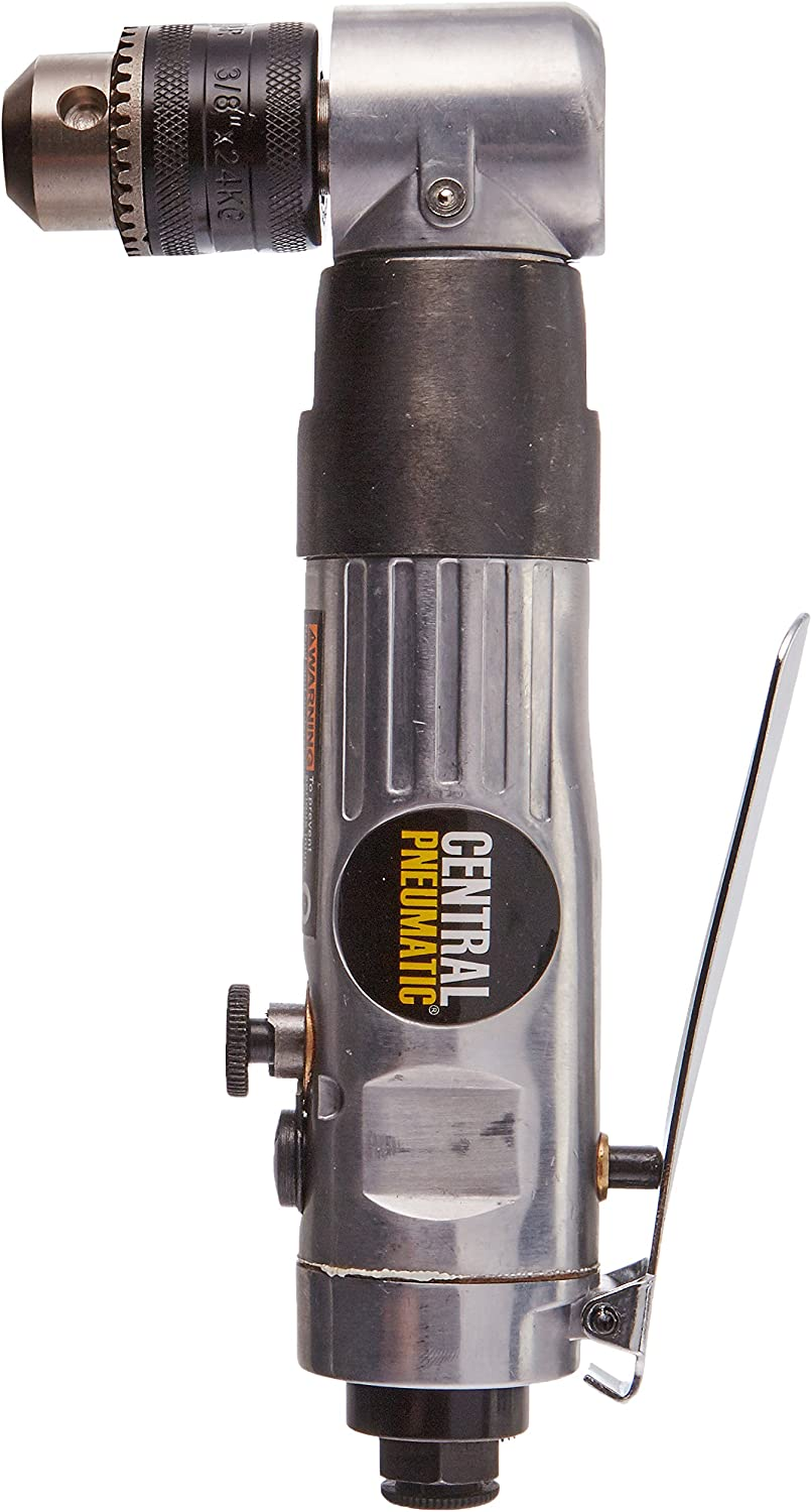 Central Pneumatic 3 8 Reversible Air Angle Drill